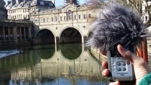 Field recording at Pulteney weir.