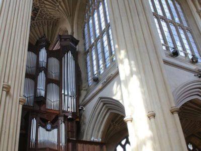 The organ of Bath Abbey goes dark