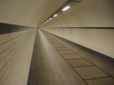 Inside the Sint Annatunnel, Antwerp