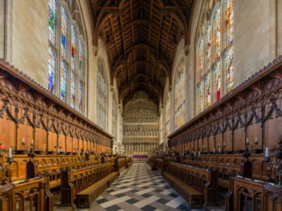 The choir of New College, Oxford University