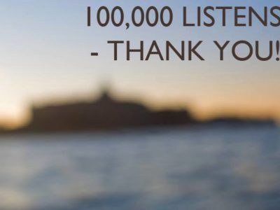 100,000 listens – thank you!