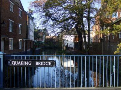 Meditating on the Quaking Bridge in Oxford