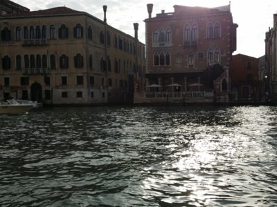 The sounds of the Grand Canal, Venice
