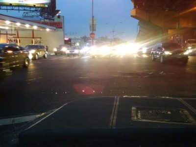 Angry drivers in New York City