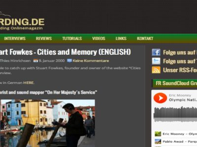 In-depth Cities and Memory interview