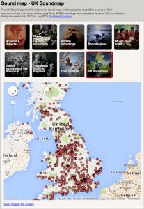 Sound maps UK Soundmap British Library Sounds
