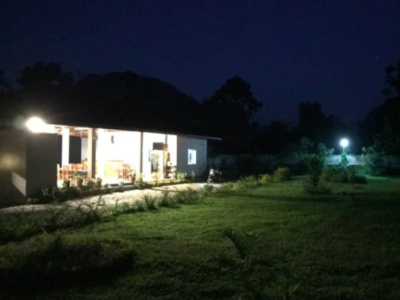 Night time in a village in Laos