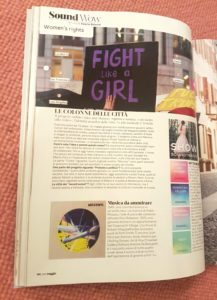 Article in Marie Claire Italia, May 2018