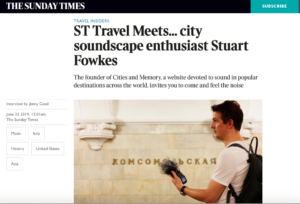 Sunday Times Cities and Memory