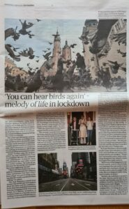 #StayHomeSounds in The Guardian, 1 April 2020